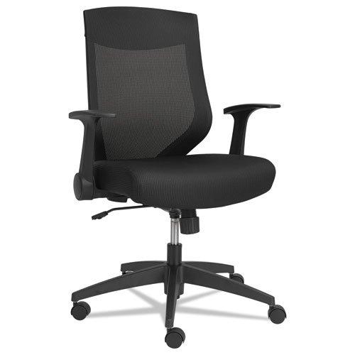 Alera EBK4217 EBK Series Synchro Mid-Back Mesh Chair  Black/