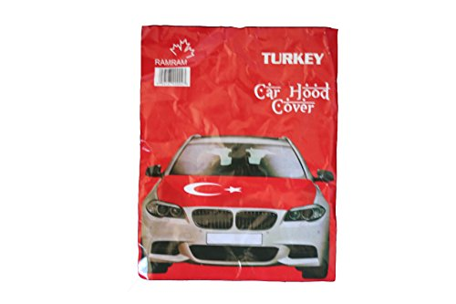 Turkey Country Flag FIFA Soccer World Cup CAR HOOD COVER .. .. New by SUPERDAVES SUPERSTORE