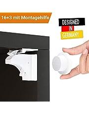 Avantina® Magnetische Kindersicherung Schrank und Schubladen - 4 Stück I 8 Stück I 16 Stück - Schranksicherung – unsichtbare Kindersicherung - Kinder-sicherung für Küchen