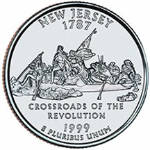1999 P New Jersey State Quarter Choice Uncirculated
