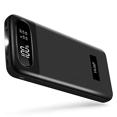 Power Bank Portable Charger 24000mAh Huge Capacity Battery Pack with 3 Inputs 2 Outputs Backup Battery Compatible Smart Devices Tablet Android Phone and Other Cellphones (Best Android Phone Out There)