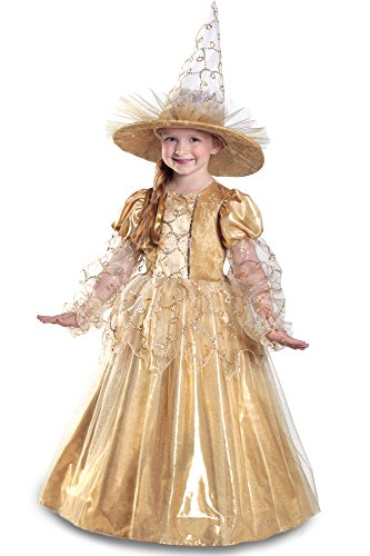 Princess Witch Costumes (Princess Paradise Mila the Gold Witch Costume, Medium)