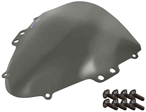 Sportbike Windscreens ADSW-202S Smoke Windscreen (Suzuki Gsxr 600/750 (04-05) With Silver screw kit), 2 Pack