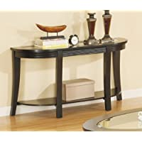 Sofa Table with Glass Top in Espresso Finish