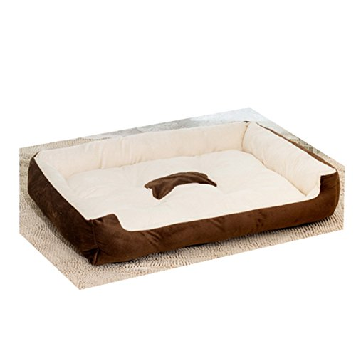 ALASKA2YOU Best Pet Supplies Crate Mat, Large, Light Brown White Suede, 42 x 28