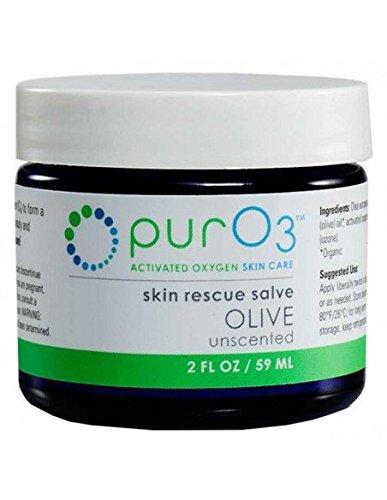 PurO3 Ozonated Olive Oil - Fully Ozonated - Glass Jars 2 Oz ()
