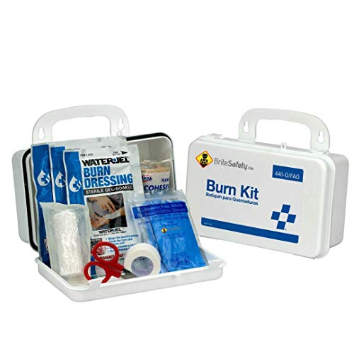 Food Service Kit Burn (Burn Care Kit, Plastic Case - Emergency Kit Trauma Kit First Aid for Restaurants, Food Services, Home, Office)