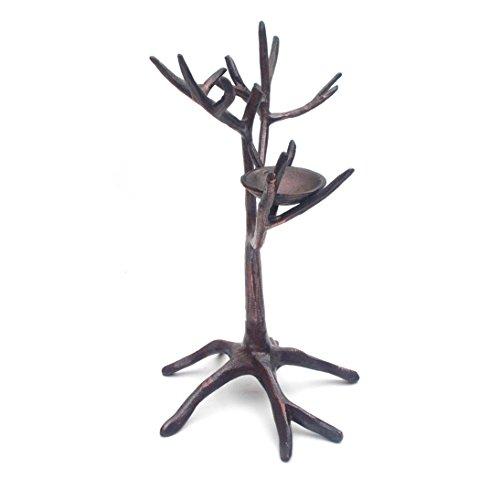 Schmuck Ständer Baum mit Nest, Schmuck Halter Ständer in Antik Bronze-Finish -