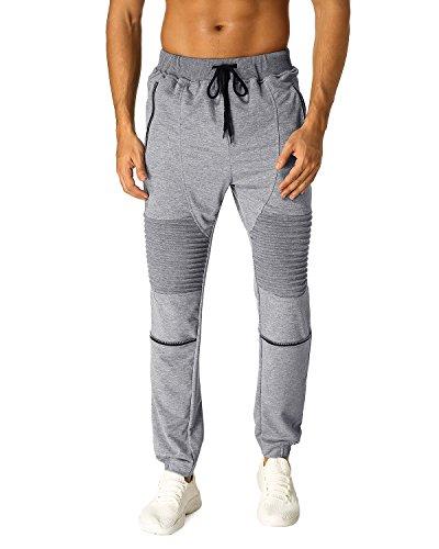 fc51b72034d MODCHOK Men's Casual Joggers Drawstring Pants Sports Sweatpants Trousers  Bottoms (2XL, Dark Grey 1