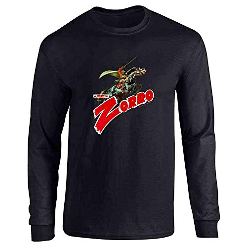 El Signo De Zorro Retro Halloween Costume Black 2XL Long Sleeve -