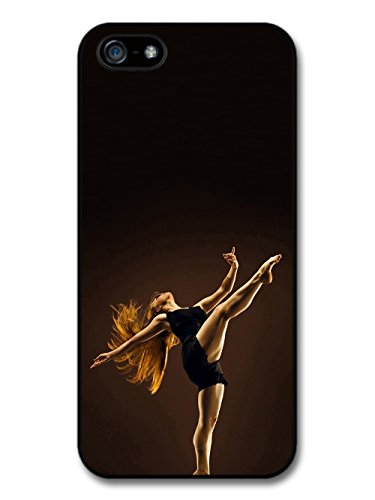 Ballet Contemporary Dancer with Red Hair Black Swan coque pour iPhone 5 5S