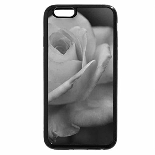 iPhone 6S Case, iPhone 6 Case (Black & White) - Special Rose