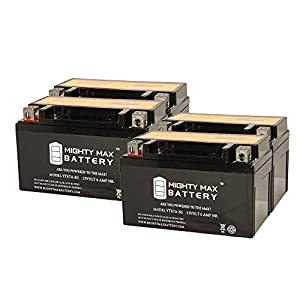 YTX7A-BS Replacement for ATV Battery EXIDE 7A-BS - 4 Pack - Mighty Max Battery brand product