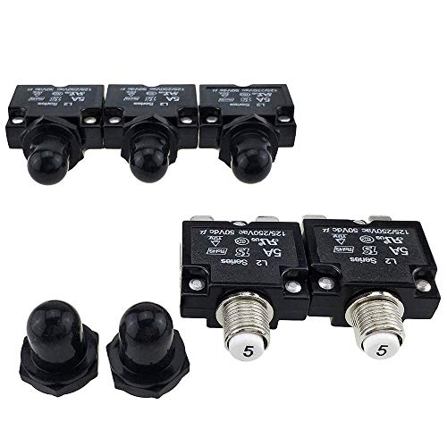40A, 2Pcs 24V Automatic Reset Circuit Breaker with Cover Stud Bolt for Automotive and More Ampper DC 12V