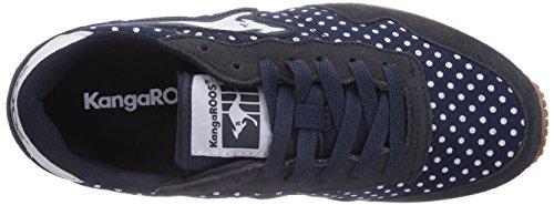 KangaROOS Invader Dots - zapatilla deportiva de material sintético mujer azul - Blau (dk navy 460)
