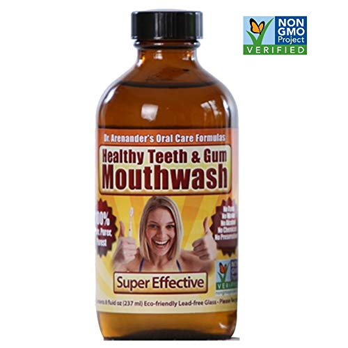 Gum Recession Help, Gums, Teeth Help - MOUTHWASH - Organic/nonGMO - Gum Recession Help, Tooth Pain, Sensitivity, Bad Breath, Plaque, Lichen planus. (Best Treatment For Gum Recession)