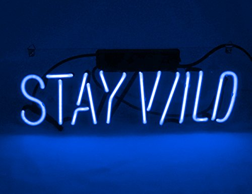 Neon Signs for Wall Decor Neon Sign for Bedroom Decorative Signs Neon Light Led Neon Sign Lamp Art Words Girls Home Room Decor Beer Bar Office, Stay Wild, 14.5