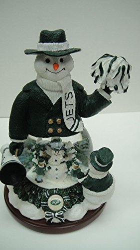 Snowman Snowglobe Christmas Figurine - NEW YORK JETS Limited Edition Memory Company