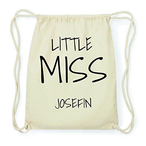 JOllify JOSEFIN Hipster Turnbeutel Tasche Rucksack aus Baumwolle - Farbe: natur Design: Little Miss