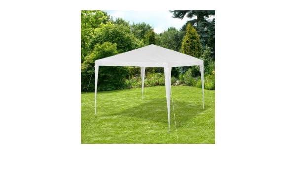 GR-DL-G7006 Pérgola para jardín con marco de acero en varios colores (3x3 m) - Blanco: Amazon.es: Hogar