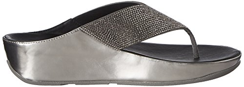 Fitflop Crystall Pewter Of Uk5 Estaño Sandalias
