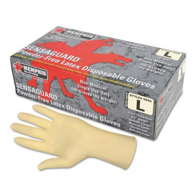 Memphis Glove 5055M SensaGuard™ Disposable Latex Gloves Medium by Memphis Glove (Image #1)