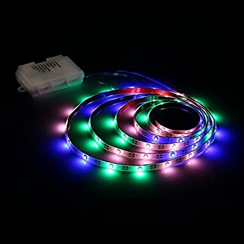 Amazon led strip lights battery powered zanflare pgb 2m led strip lights battery powered zanflare pgb 2m656ft 8 light modes led light mozeypictures Image collections