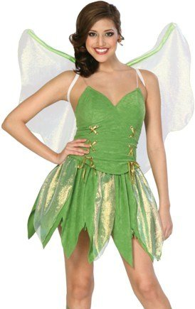 Tinkerbell Fairy Adult Costume Size 2-4 X-Small