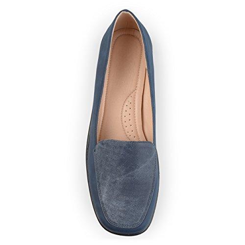 Journee Collectie Dames Vierkante Neus Comfort Loafers Navy