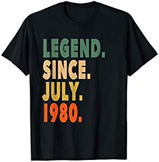 Awesome Since July 1980 39th Birthday Gifts 39 Yrs Old T-shirt | Size S - 5XL