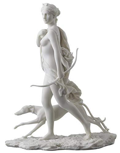 Diana the Huntress Statue – Goddess of the Hunt Artemis White Finish