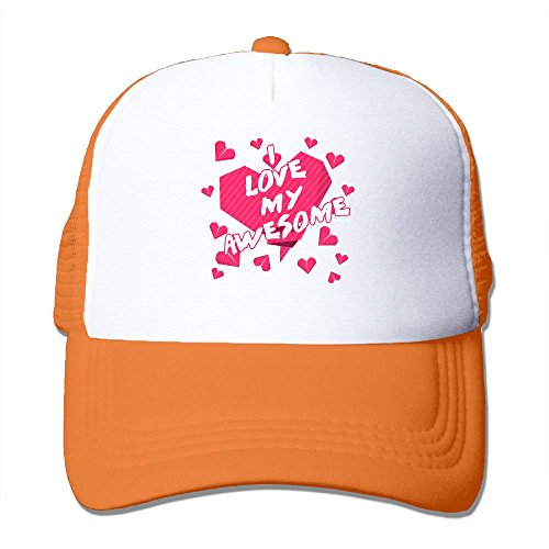 Outdoor Mesh Cap I Love My Awesome Wife Be My Valentinescool Design Adjustable Hat