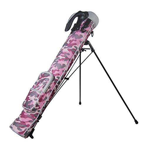 Azrof Golf Women's Half Size Club Case Caddie Stand Bag, Pink Camo by Azrof Golf