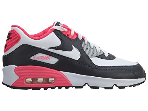 Nike Youths Air Max 90 Antracite Leather Antracite Leather Trainers 39 EU