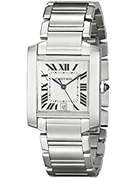 Mens W51002Q3 Tank Francaise Stainless Steel Automatic Watch. Cartier
