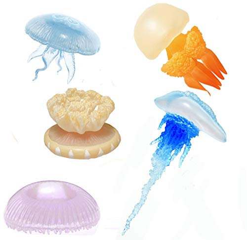Kitan Club Jellyfish Rubber Toys - Includes All 5 Collectable Figurines - Fun and Educational - Authentic Japanese Design - Made from Durable Plastic