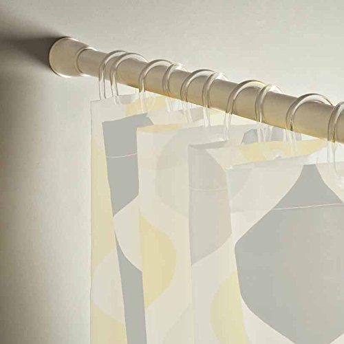 "Deco Window Extendable Shower Curtain Rod/Drapery Rod (40""-76"") (White)"