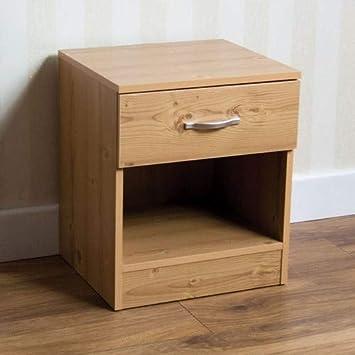 RIANO 2 tiroirs en bois de noyer commode chambre à coucher rangement meuble Unité