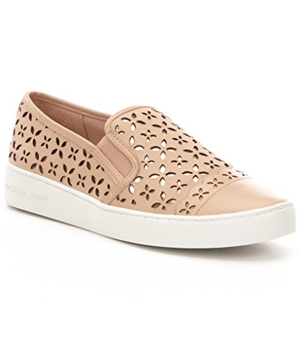 MICHAEL Michael Kors Womens Susanna Leather Slip-On Sneaker Oyster/ Light Peach kI5tm5Ji