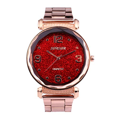 (Aoesila High-End Fashion Ladies Watch Casual Exquisite Sky Stars Empty Steel Belt Watch Easy To Match Watch)