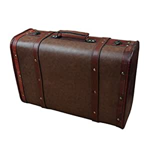 Partiss Vintage Suitcase, One Size, Brown