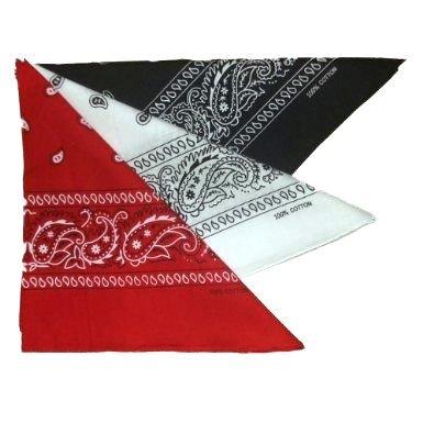 Blanco Gargantilla Redondo Usa Bandana 3 American Rojo Negro Cuello de Paisley Pa Juego HqI4PP