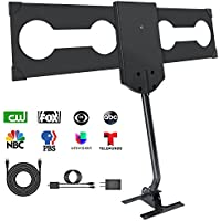 Outdoor TV Antenna,Tryace HDTV Antenna 150 Miles Omni-directional Reception Outdoor/Attic/Roof Digital Antenna with Amplifier and Mounting Pole Support UHF/VHF/FM Signal with 33FT High Coaxial Cable