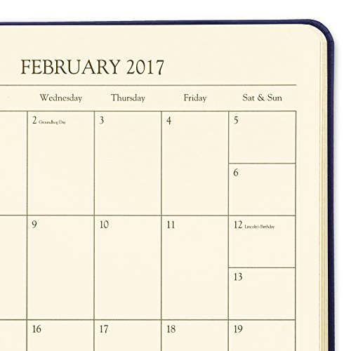 2017 Gallery Leather Desk Weekly Planner Acadia Navy
