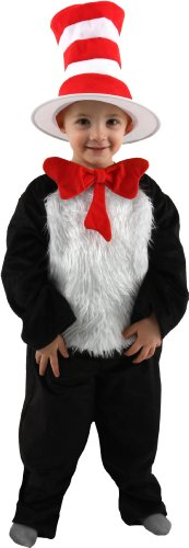 Kids Cat In The Hat Costumes (elope Cat in the Hat Deluxe Kids Costume, M (8-10))