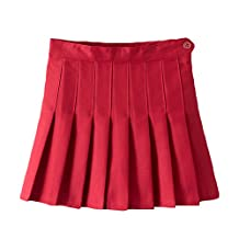 Women High Waist Cheerleader Pleated Mini Tennis Short Skater Flared Skirt