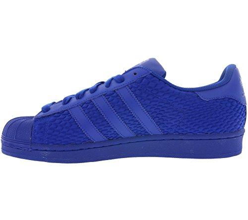 Originali Adidas Superstar Mens Formatori S31641 Delle Scarpe Da Tennis (ci 8, Blu Blu Aq3050)