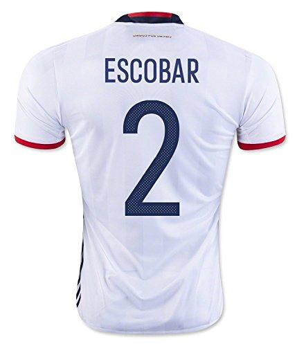 困惑する拍手隠Escobar #2 Colombia Home Soccer Jersey Copa America Centenario 2016/サッカーユニフォーム コロンビア ホーム用 エスコバル