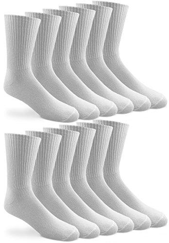Jefferies Socks Mens Classic Casual Rib Dress Socks 12 Pair Pack (Sock Size 10-13 - Shoe Size 9-13, White) (Sock Dress Rib Classic)