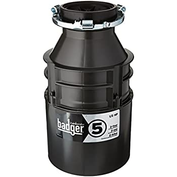 badger 1 2 hp garbage disposal insinkerator badger 5 1 2 hp food waste disposer 9073